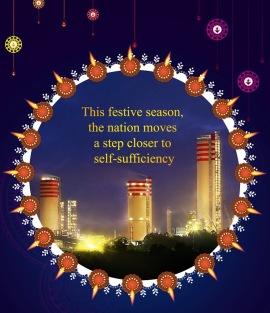 Diwali celebration card./ District Kota, Rajasthan