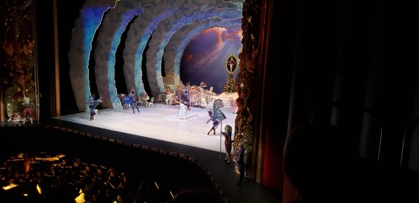 Ballet dancers, Houston Ballet Nutcracker. Butterflies and Cats on stage wings ( image: copyrighted, all rights reserved, No permissions granted )
