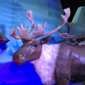 Ice sculpture of reindeer (© image all rights reserved, copyrighted, no permissions granted)