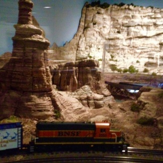 All aboard! Keep your eyes open for dinosaurs! Houston Museum of Natural Science trains over Texas exhibit. (© image copyrighted, all rights reserved, NO permissions granted)