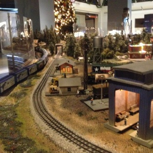 Railroad roundhouse and maintenance center of Houston Museum of Natural Science train exhibit. (© image copyrighted, all rights reserved, NO permissions granted)