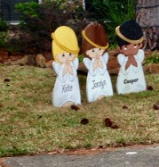 Christmas yard decorations ( copyrighted © image all rights reserved, NO permissions granted )