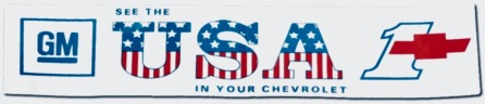 "Vintage car bumper sticker with the famous ""See the USA in your Chevrolet"" (Car Parts)"
