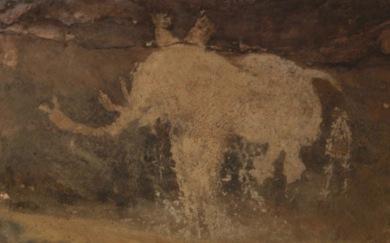 prehistoric elephant painting (image by Nagarjun Kandukuru/Commons.wikimedia.org)