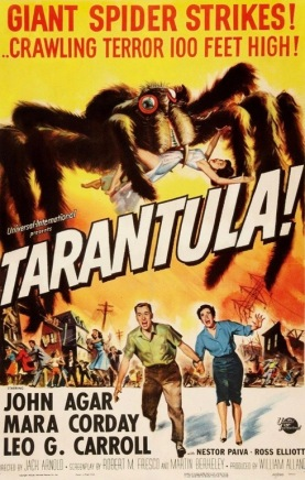 Spider. Horror movie poster. (1955. Reynold Brown. USPD: artist life, pub.date/ Commons.wikimedia.org)
