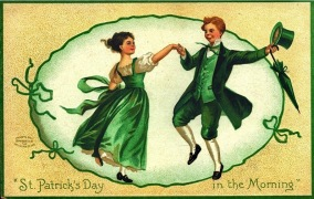 Irish couple dancing. (1908/International Art Pub.Co./Missouri History Museum/USPD: pub.date, artist life/Commons.wikimedia.org)