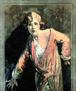Scared woman. 1929 Universal Pictures/USPD.pub.date, artist life/Commons.wikimedia.org)