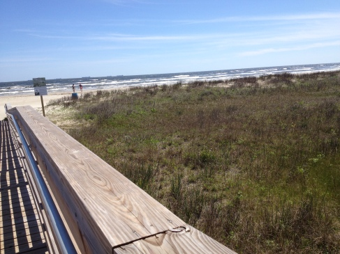 East Beach boardwalk over dunes. Galveston. ( image: all rights reserved, copyrighted, NO permissions granted )