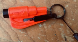 Orange Resqme quick car escape tool (© image, all rights reserved, copyrighted, no permissions granted)
