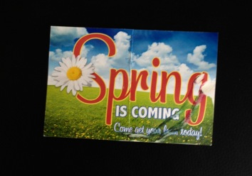 postcard. Spring sale on personal loans (© image. Copyrighted, no permission granted, all rights reserved)