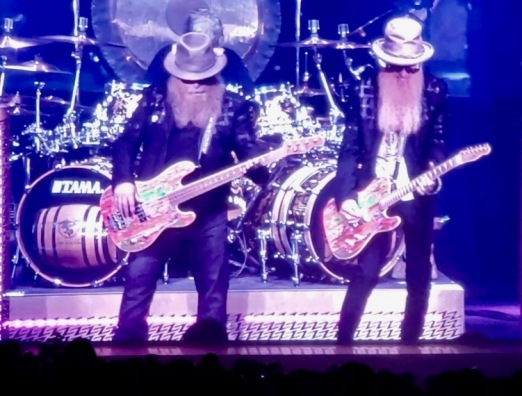 Here's the ZZ Top boys: The drummer is the only one without a beard. ( image copyrighted, all rights reserved, no permissions granted)