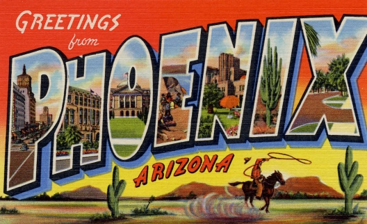 Curt Teich big letter City of Phoenix Post card from Phoenix (USPD. pub.date, artist life/Commons.wikimedia.org)