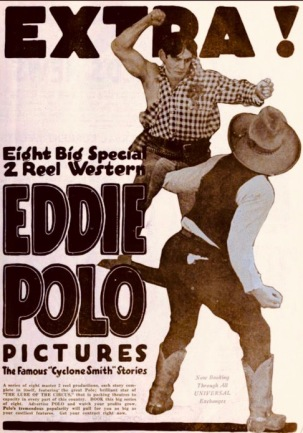Cowboys fighting. 1919 Universal film Cyclone Smith. (USPD. pub.date, artist life/Commons.wikimedia.org)