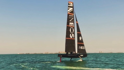 And another team's version of sailing on foils (Screenshot The Sailing Show)