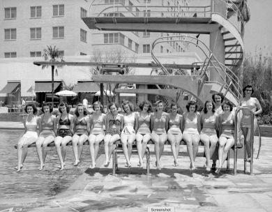 Corkettes, synchrionized swim tream based at the Shamrock Hotel (c.1950. Pub. image)