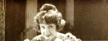 Smiling woman. (May Allison, 1920. Film promo From Metro Pictures (USPD. artist life, pub.date/Commons.wikimedia.org)