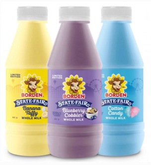 milk bottles. Limited edition State Fair inspired flavors. (Bordendairy.com image)