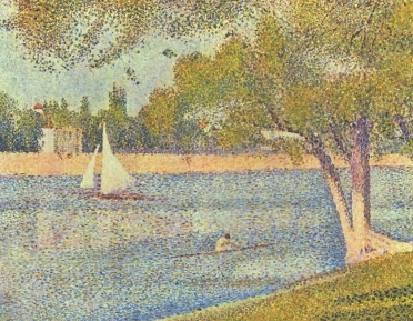 River scene (The Seine at La Grande Jatte) by George Seurat. 1888 (USPD. pub.date, artist life)