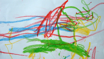 Crayon scribble art work by a child (Zeimusu/Commons.wikimedia.org)