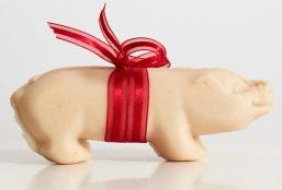 Marzipan Christmas pig.