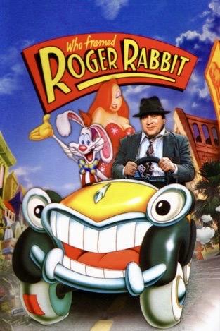 Cartoon car with Roger Rabbit and Jessica Rabbit. Movie poster . Roger and Jessica Rabbit. ( image from: Rogerebert.com)