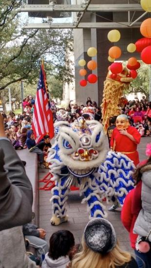Traditional Dragon Dancers (MFAH Lunar celebration )