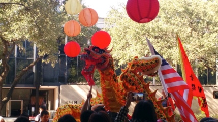 Lunar New Years festival and Dragon (Image MFAH)