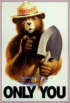 "Smokey the Bear ""Only You"" 1989 poster (USPD. by USDA agent/Nat. Ag. Lib, MD/Commons.wikimedia.org)"