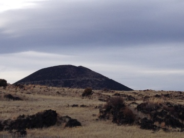 Volcano in New Mexico showing spiraling road (© image., copyrighted, all rights reserved, no permissions granted)
