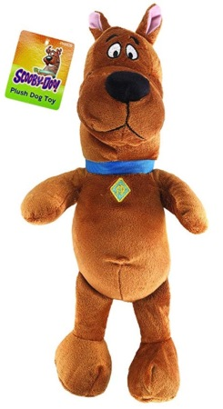 stuffed dog toy with a terrified expression . Scooby-Doo (Amazon image)