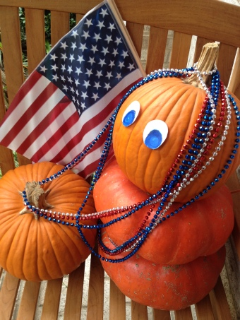 Patriotic pumpkins (© image, all rights reserved, copyrighted, no permissions granted)