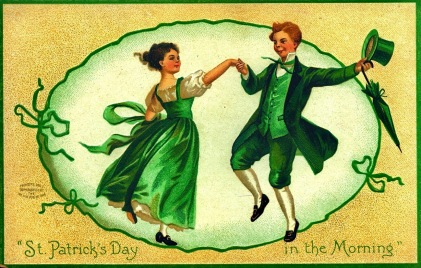 Vintage postcard for St. Patrick's Day. 1908 International Art Pub.lCo./Missouri History Museum (USPD. pub.date, artist life/Commons.wikimedia.org)