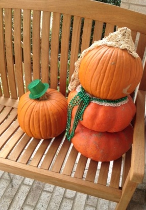 Pumpkins dressed for St Patrick's Day (© image. Copyrighted, no permissions granted, All rights reserved)
