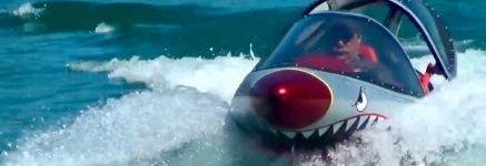 Red nosed shark watercraft. (screenshot Seabreacher info. video)