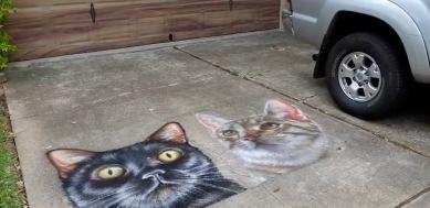 cat mural. (screenshot ABC13news)