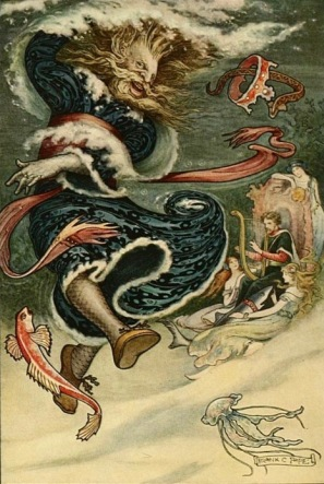 airy tale. Water Tsar dances. Russian Story Book, 1916, ill.Pape (USPD. pub.date, artiist life/Commons.wikimedia.org)