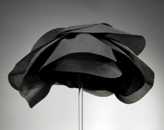 Black Petal DInner HAa by Halston. 1959-1967 for Bergdorf Goodman (Rienzi/MFAH screenshot)