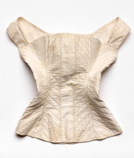 Corset. 1820-1830. American. Cotton and metal. 19x17 inches (Rienzi/MFAH collection screenshot)