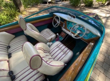 Interior of Volkswagen Boatwagon.(Lot #34520/Bringatrailer.com)