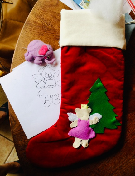 Christmas stocking in progress. (© image. copyrighted, all rights reserved, no permissions granted)