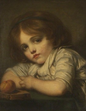 Child with an apple. Jean-Baptiste Greuze (USPD. reprod of PD art, artist life/Commons.wikimedia.org)