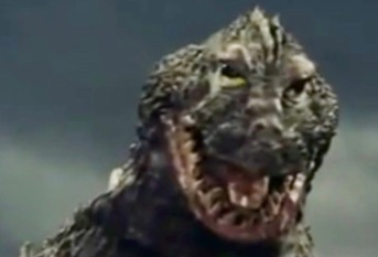 Lizard Monster. King Kong vs Godzilla, 1962 film trailer (USPD pub. date, artist life/Commons,wikimedia.org)