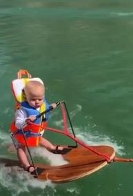Child. Utah 6 month old water skiing. (screeenshot Salt LAke City Fox13/Humphrey family video)