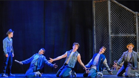 Gang of boys. The Jets of original West Side Story. (image LA Theater Review)