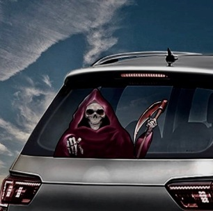 Grim Reaper Demon Wizard waving arm wiper sticker (Image: MIYSNEIRN / Amazon)