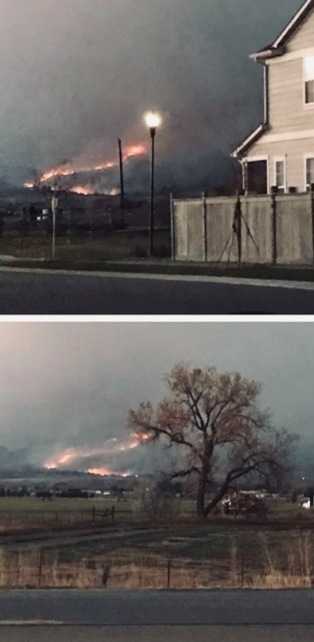 wild fire approaching neighborhood of friends in Longmont, CO. (© image. Copyrighted, no permissions granted. ALL rights reserved.)
