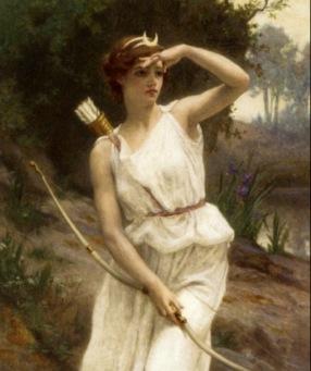 Diana the Huntress by Seignac (USPD, artist life/Commons.wikimedia.org)