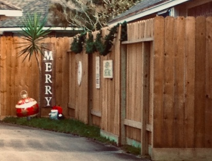 Christmas yard decorations - at Halloween (© image copyrighted no permissions granted , ALL rights reserved)