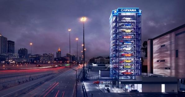 Car vending machine. Carvana Atlanta. (image itbusinessnet.com)
