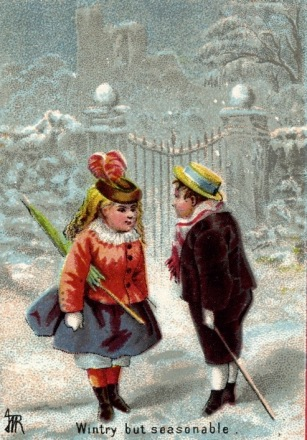 Two Vintage dressed Children in snow. (USPD/Commons.wikimedia.org)